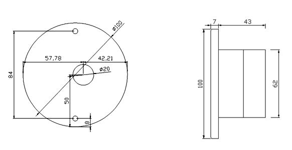 高精度面风速变送器尺寸与接线图