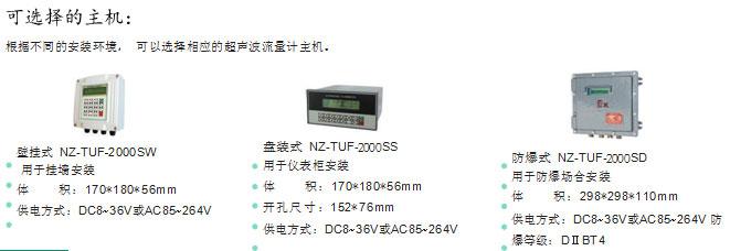 NZ-TUF-2000S超声波流量计